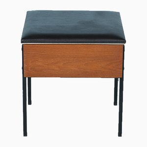 Mid-Century Teak Sewing Stool