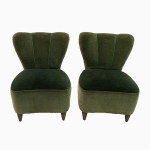 Kleine italienische Mid-Century Sessel von Gio Ponti für Casa e Giardino, 1950er, 2er Set