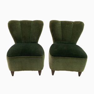 Small Mid-Century Italian Lounge Chairs by Gio Ponti for Casa e Giardino, 1950s, Set of 2