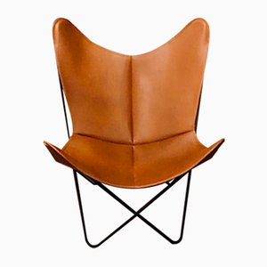 Model BKF Side Chair by Antonio Bonet, Juan Kurchan and Jorge Ferrari-Hardoy for Isist Leather