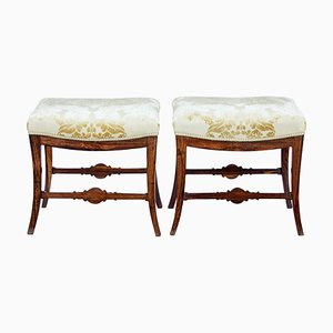 19th Century Rosewood Stools, Set of 2