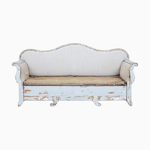 19th Century Gustavian Pinewood Sofa Bed