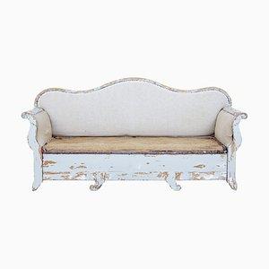 Sofá cama gustaviano de pino, siglo XIX