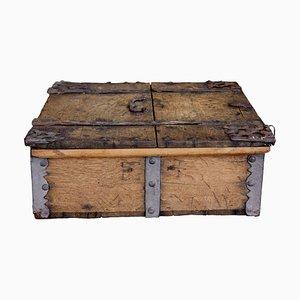 19th Century Oak Strong Box