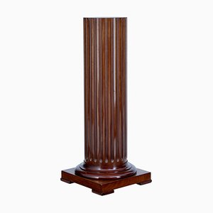 19th Century Scandinavian Fluted Mahogany Pedestal Stand