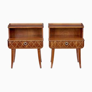 Mid-Century Scandinavian Teak Nightstands, 1960s, Set of 2