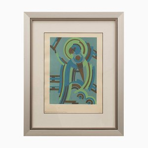 Art Deco French Pochoir by Serge Gladky, 1920s