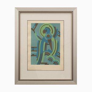 Französischer Art Déco Pochoir von Serge Gladky, 1920er
