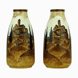 Art Déco Vasen von Charles Catteau für Keramis, 1932, 2er Set