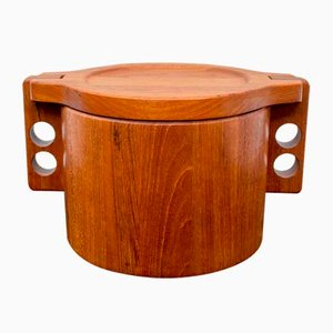 Danish Teak Ice Bucket by Birgit Krogh for Woodline, 1960s