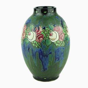 Art Déco Vase aus Steingut von Charles Catteau für Keramis, 1920er