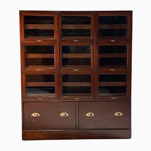 Mahogany Display Cabinet, 1940s
