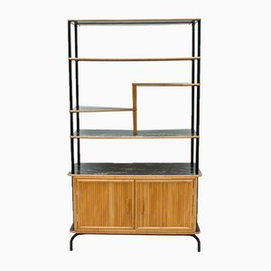 Bamboo Room Divider with Shelves, 1950s