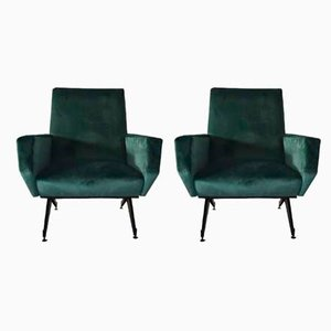 Mid-Century Lounge Chairs, 1950s, 1950s, Set of 2