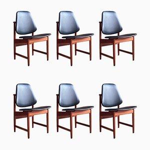 Esszimmerstühle aus Teak von Arne Hovmand-Olsen für Hovmand-Olsen, 1950er, 6er Set