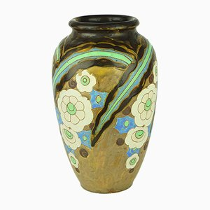 Art Deco Vase by Charles Catteau for Keramis Boch, 1920s