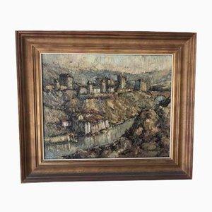 Antikes spanisches impressionistisches Landschaftsgemälde von Callader