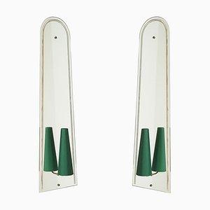 Apliques italianos Mid-Century de espejo, años 50. Juego de 2