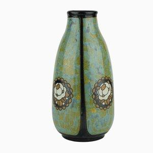 Art Déco Modell D771 Vase aus Steingut von Charles Catteau für Keramis, 1920er