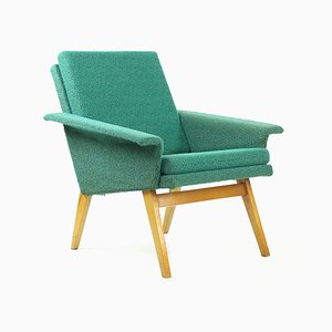 Mid-Century Green Fabric Armchair from Jitona, 1960s