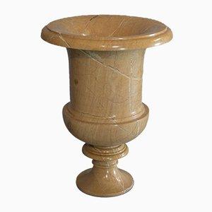 Goldene englische Vintage Baluster Urne aus Marmor, 1980er