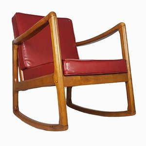 Mid-Century Wooden Rocking Chair, 1970s