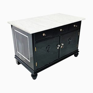 Art Deco Black Dresser, 1920s
