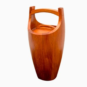 Teak Model Congo Ice Bucket by Jens Quistgaard for Dansk Design, 1950s