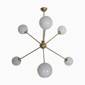 Lámpara de araña Sputnik vintage, años 60