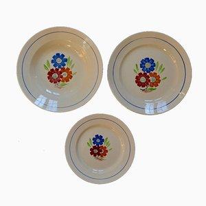 Vaisselle en Porcelaine de Keller et Guerin Lunéville, 1950s