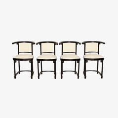Wooden Chairs by Josef Hoffmann for Jacob and Josef Kohn, 1905, Set of 4