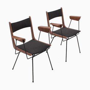 Mid-Century Armchairs by Carlo Ratti, Set of 2