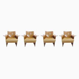 Chaises de Salle à Manger Modèle Korium par Tito Agnoli pour Matteo Grassi, 1970s, Set de 4