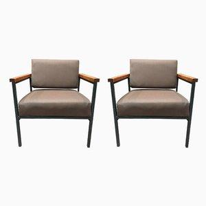 Scandinavian Modern Teak Lounge Chairs, 1950s, Set of 2