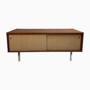 Small Belgian Teak and Steel Sideboard, 1960s
