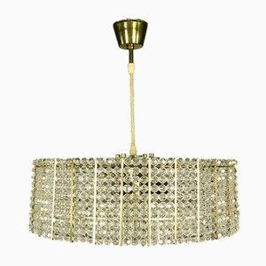 Vintage Plastic Crystal Pendant Lamp, 1960s