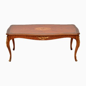 Vintage French King Wood and Rosewood Coffee Table, 1930s