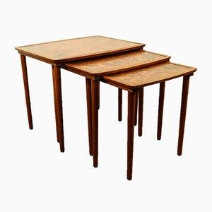Tables Gigognes Vintage en Teck de Møbel Intarsia, Danemark, 1970s