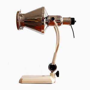 Lámpara de mesa industrial de Tesla, años 50