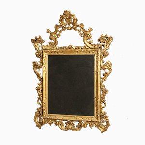 Italienischer Spiegel mit vergoldetem Holzrahmen, 1950er