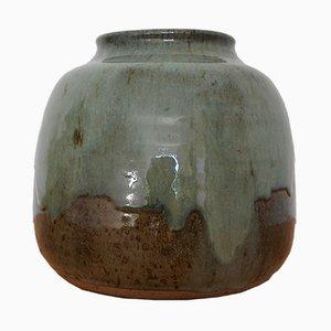 Französische Vase aus Steingut von La Borne, 1970er