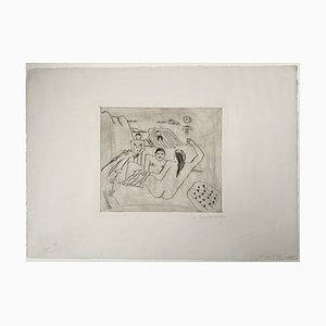 Große Radierung von Franz Radziwill, 1920er