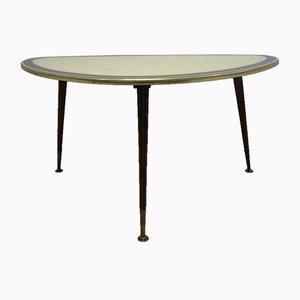 Tavolino da caffè Mid-Century con ripiano in vetro, anni '60