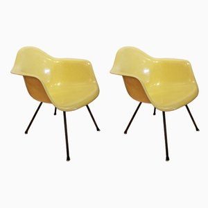 Modell Lax Sessel von Charles & Ray Eames für Herman Miller, 1950er, 2er Set