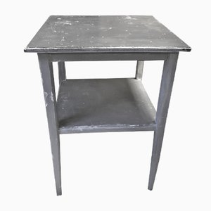 Mid-Century Industrial Gray Side Table
