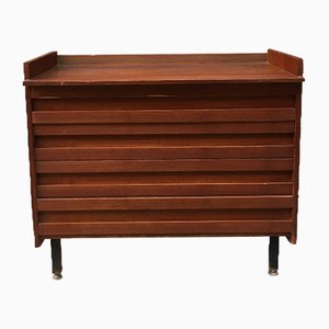 Italian Teak, Metal, and Brass Dresser, 1960s
