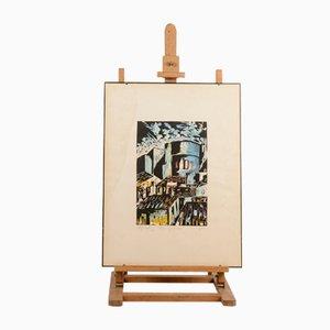 Borgo San Giuliano Macerata Print by A. Carletti, 1970s