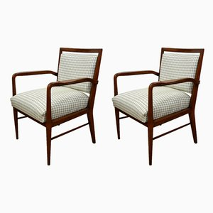 Vintage Italian Walnut Lounge Chairs, 1950s, Set of 2