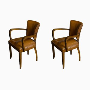 Art Deco Armchairs from Oxedou, 1930s, Set of 2