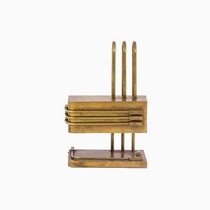 Lámpara de mesa Bauhaus vintage de latón, años 20